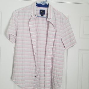 Armani Exchange short sleeve button down